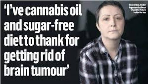 Cannabis oil and sugar-free diet helped my brain tumour to disappear'
